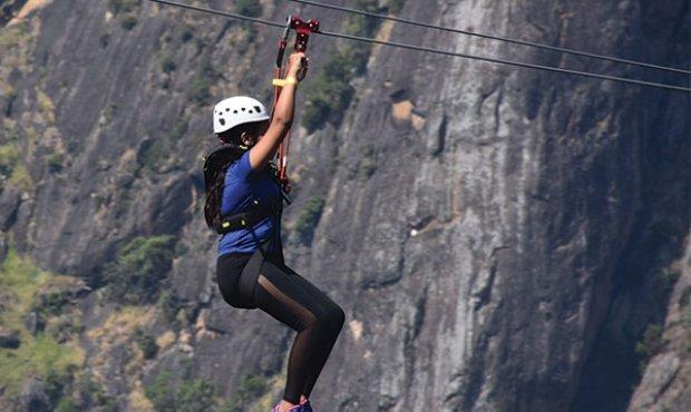 Detroves Team at Sri Lanka's first ever zipline in Ella